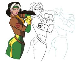 Rogue with sketch by PhillieCheesie