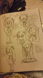 Bethy Hedgehog Sketches  by bluepenguingirl