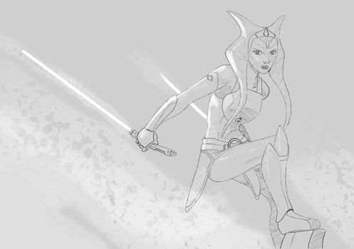 Ahsoka tano sketch by envidia14