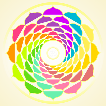 Mandala Happy Colors - INKSCAPE by DG-RA