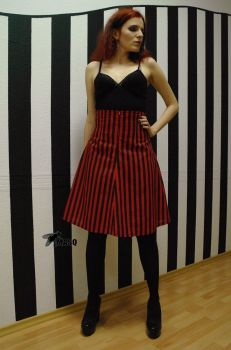 Red and Black stripes v2 by masque242