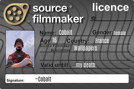 Source filmmaker licence by CobaltDrawing