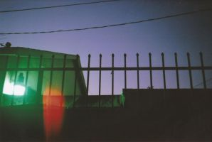 Untitled Alley Shot with a Light Leak by MegaBunneh