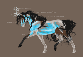 glass horse adoptable [closed] by TheIceViking