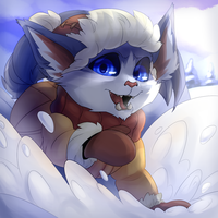 League Of Legends - Snow Day Gnar by lizardwow