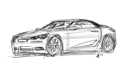 SKR sport compact sketch by flameofwar