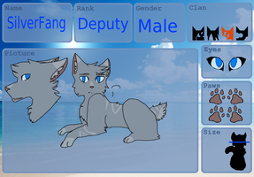 Silverfang|BrightclanDeputy tryout|TSC Application by Virtue-Of-The-Stars