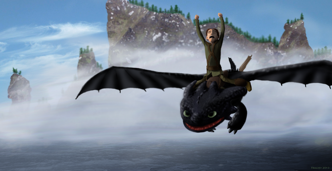 Hiccup and Toothless: Yeah Baby! by Fragsey