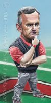 Coach Tressel Caricature by sharpie99