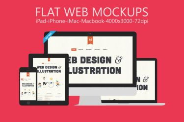 Flat Responsive Web Mockups Vol.1 by graphiccon