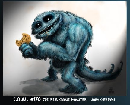 Cookie monster 001 by skullbeast