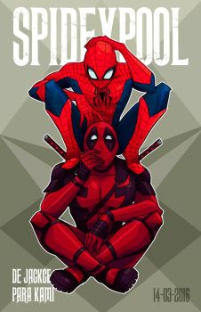 SpideyPool for the love by Jackce-Art