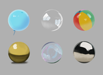Sphere Material Studies by LiteralBanana