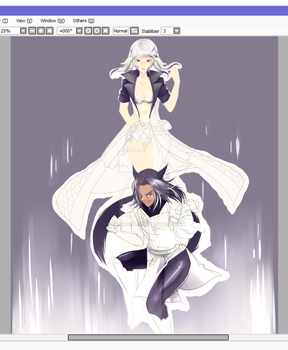 In Progress: Nyss and Zory by NikkoTakishima