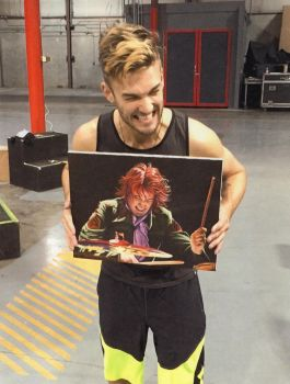 Picture of Arejay Hale with portrait by kmreadel