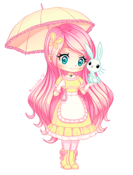 Fluttershy of MLP [Chibi] by Nukababe
