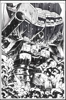 Megatron vs Devastator inks by GuidoGuidi