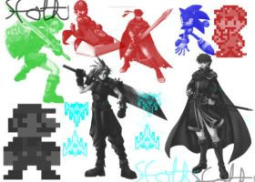 Video game Character Brushes by Sfoth