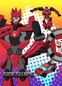 Transformers Rescue Bots: Sideswipe by Theditor