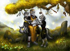 Mother with sons by Reiterin2501