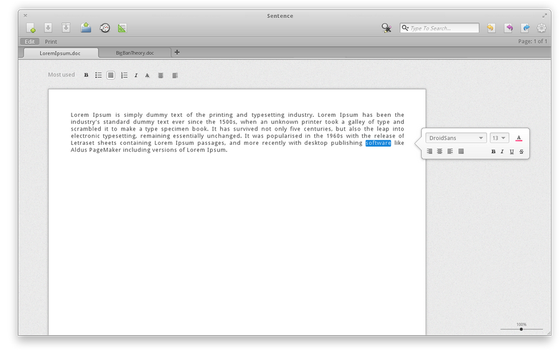 Sentence - advanced text editor by Dikoo