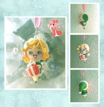 Chibi Elf Ornament by Octopop-n-Aicing