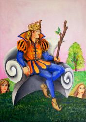 King of wands by annalobello