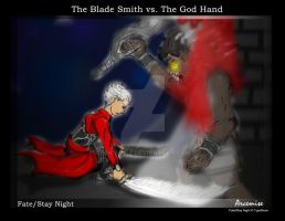 The Bladesmith vs. The Godhand by Arcemise