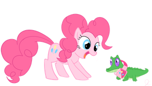 Pinkie's New Pet by StabiCon