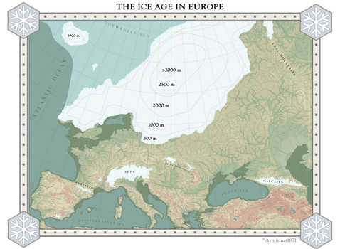 The Ice Age in Europe by Arminius1871