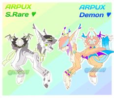 Arpux Pony Adoptables AUCTION (2/2 CLOSED :3) by Zunary