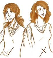 Yay and Nay, Hermione by french-teapot