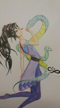 Dance with snakes by ChiisanaRingo