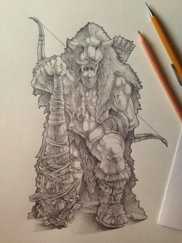 Heracles (pencils) by phrenan