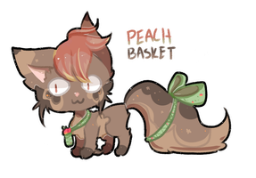 Derp Ribbon Raffle- Peach Basket (CLOSED) by Kuro-The-Art-Kitsune