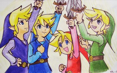 4 links' Four Swords by colorful-soup