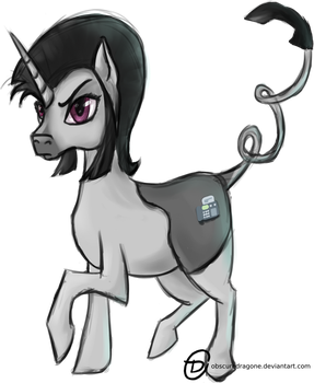 Fax Machine, The Pony by ObscureDragone