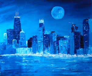 Blue City 2 - Chicago by MikeConklinArtist