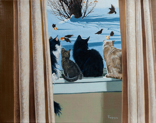 4 Cats by hank1