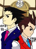 Two lawyers_a courtroom by Genzo-chan