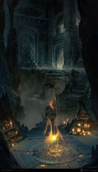 Nuro the flames of the catacombs by NURO-art