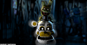 Funtime Withered Golden Freddy   ThrPuppet by PuppetFactory