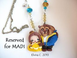 Beauty and the beast necklace by elvira-creations