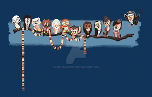 Doctor Hoo UPDATED! T-shirts avail! by pupukachoo