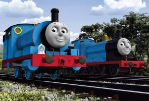 Percy and James in NWR Blue by The-ARC-Minister