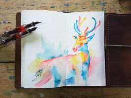 sika deer by TingChieh