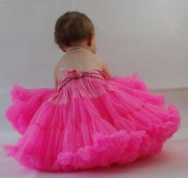 Pink TUTU girl by stockmichelle