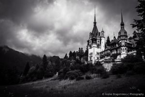 Storm Coming at the Castle by DrAndrei
