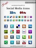 Free Social Media icons by MGQsy