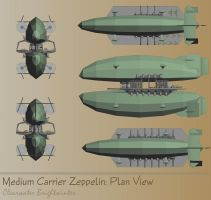 steampunk zeppelin planview by clearwater-art